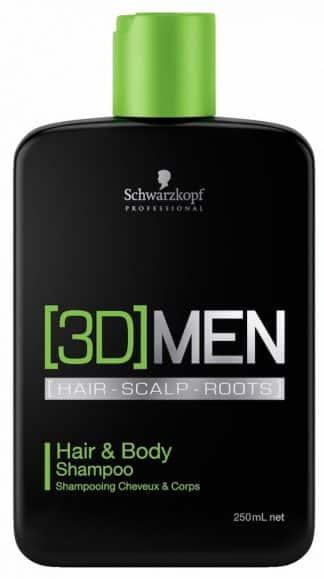 Schwarzkopf 3D Men Hair & Body Shampoo 250ml-0