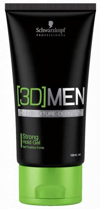 Schwarzkopf 3D Men Strong Hold Gel 150ml-0